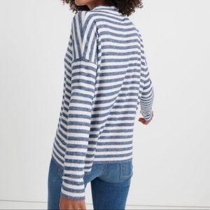 Lucky brand mock neck cloud jersey stripe shirt